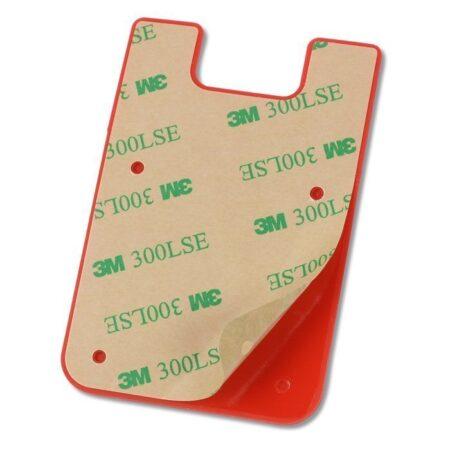 custom adhesive phone wallets back