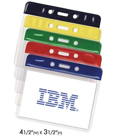 Colored Vinyl Badge Holders