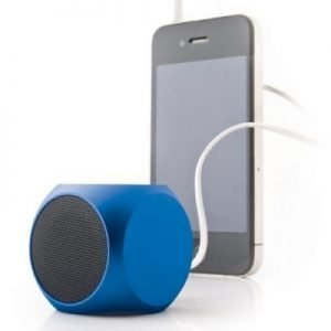 cube mini bluetooth speaker blue