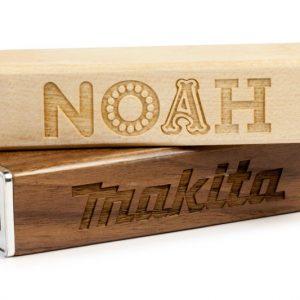 Wooden Power Bank NOAH and MAKITA