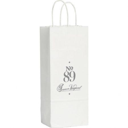 Kraft Paper White Custom Wine Bag
