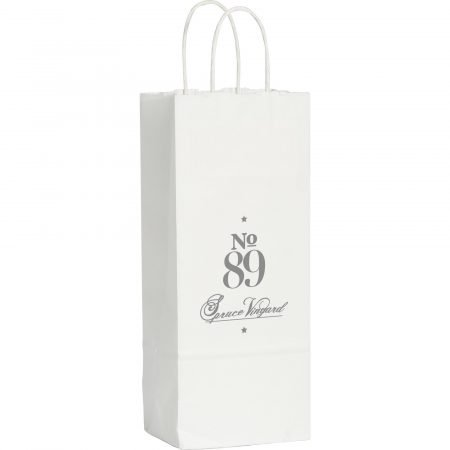 Kraft Paper White Custom Wine Bag