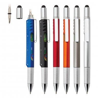 6 in 1 Stylus Multi Tool Promotional Pen