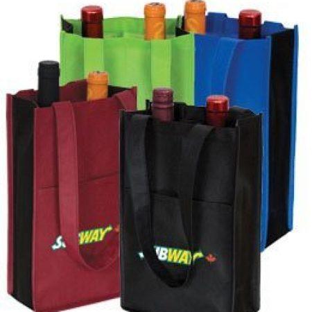 Two Bottle Custom Wine Bag