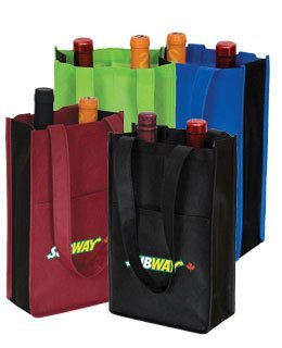 Two Bottle Custom Wine Bag