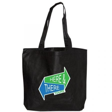 Large non woven Tote Bag - black