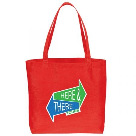 Large non woven Tote Bag - red