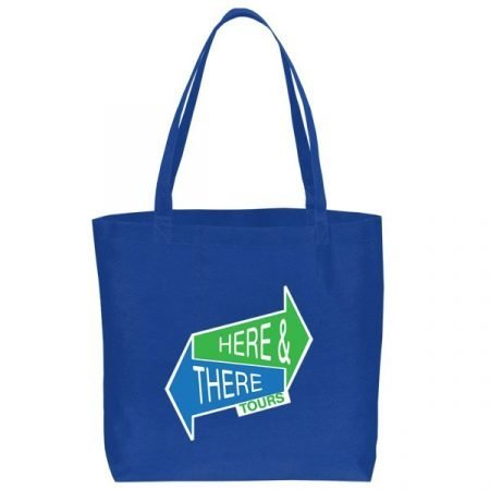 Large non woven Tote Bag - blue