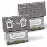 house shaped desktop calendar