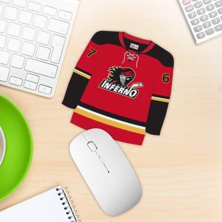 Hockey jersey mouse pad custom