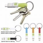 Keychain USB Charging Cable 3-in-1