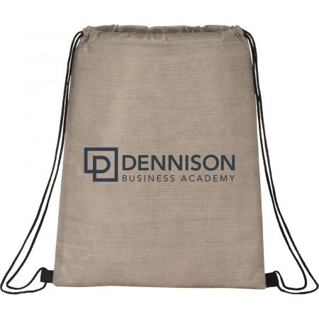Graphite Non-Woven Drawstring Bag