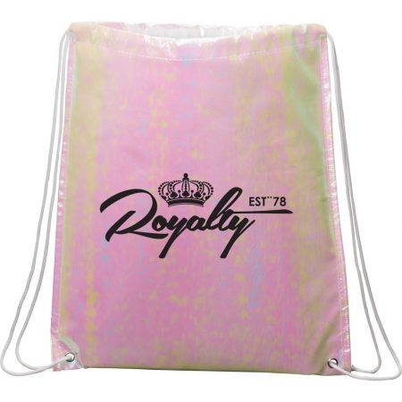Iridescent Non-Woven Drawstring Bag