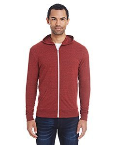 Unisex Triblend Full-Zip Light Hoodie