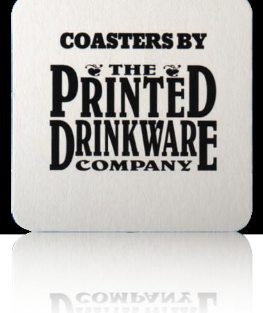 Square Pulp Board Custom Coaster