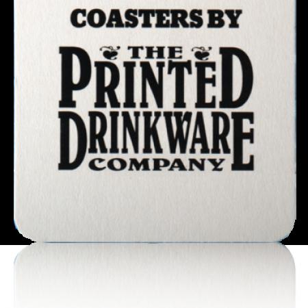 Square Pulp Board Custom Coaster - 40pt