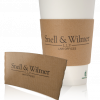 Kraft Ribbed Paper Cup Sleeves