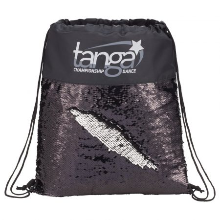 Mermaid Sequin Drawstring Bag Black/Silver