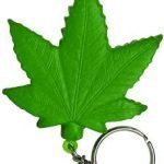 Cannabis Leaf Keychain Stress Reliever