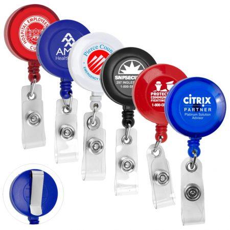 Custom Retractable Badge Reel w/ Badge Holder