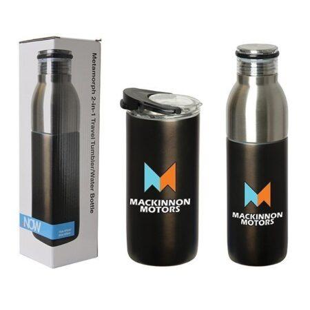 2-in-1 Custom Travel Tumbler Bottle