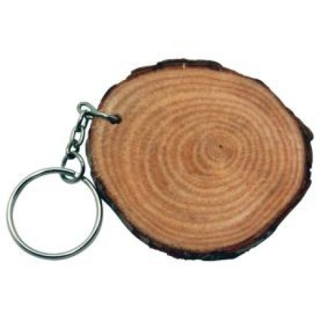 Natural Wood Keychains