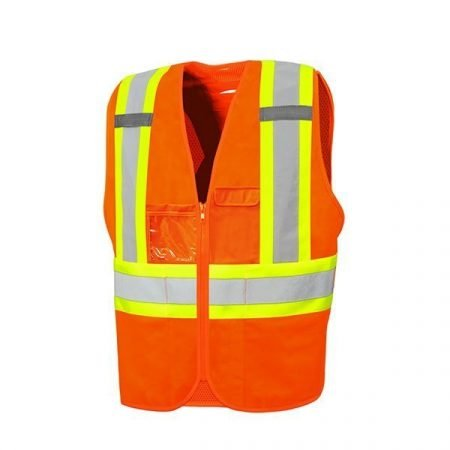 Zipper Closure Traffic Vest