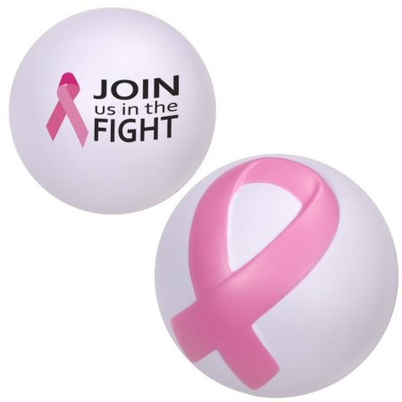 Breast Cancer Awareness Ribbon Stress Reliever