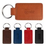 Custom Leather Rectangle Keychain