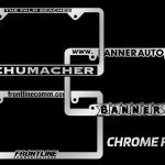 Custom Chrome License Plate Frames