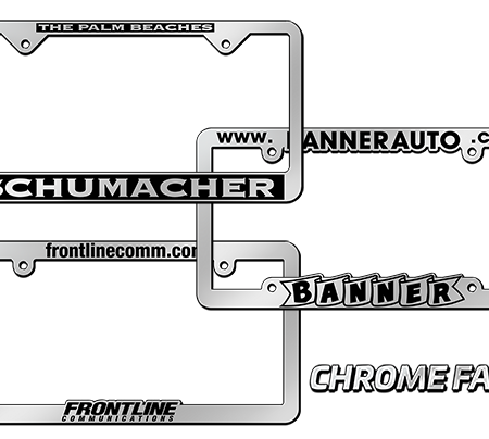 Custom Chrome License Plate Frames