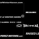 Raised Letter License Plate Frames