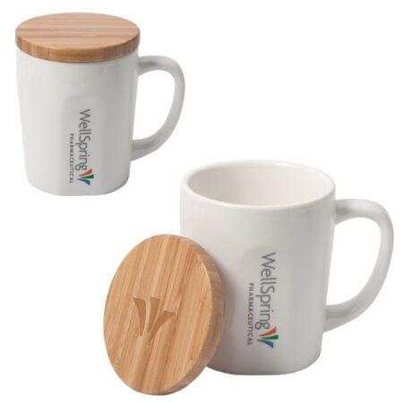 Bamboo Cover Custom Mug - 15 oz.