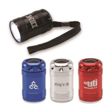 Aluminum Promotional 6-LED Flashlight