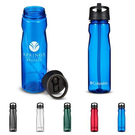 Custom Columbia Tritan Water Bottle w/ Straw - 25 oz.