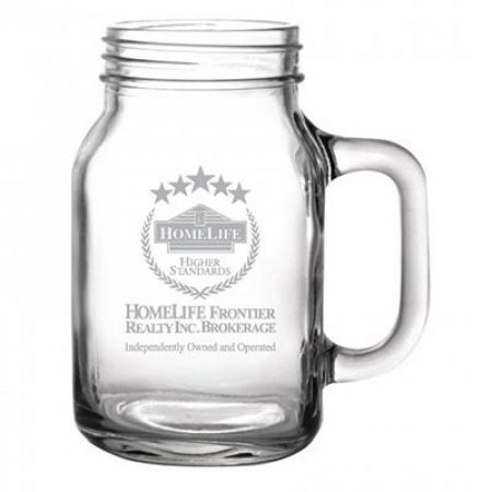 Mason Jar Custom Mug - 16 oz.
