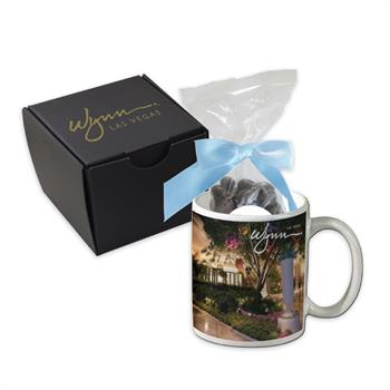 Dark Chocolate Almonds Custom Mug Gift Set