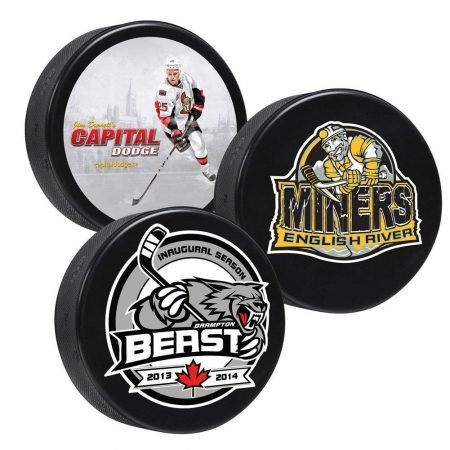 Canadian Made Custom Hockey Pucks