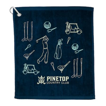 Terry Cotton Custom Golf Towel