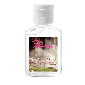 Custom Hand Sanitizer Square Bottle - 1 OZ