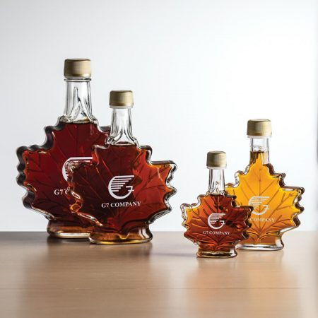 Maple Leaf Custom Maple Syrup Bottles