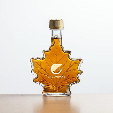 Maple Leaf Custom Maple Syrup Bottles