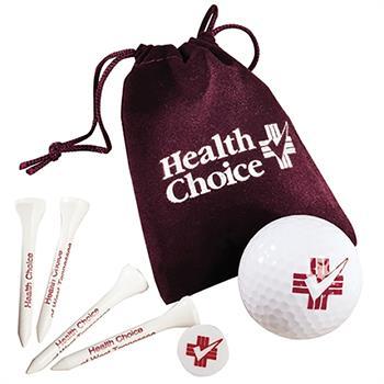 Velour Bag Custom Golf Gift Set