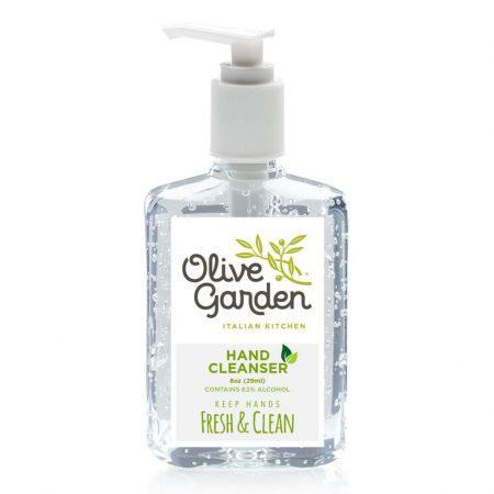 8 oz. Hand Sanitizer Custom Clear Bottle w/ Pump