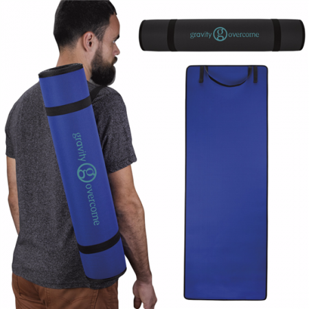 Custom Fitness Yoga Mat w/ Shoulder Strap