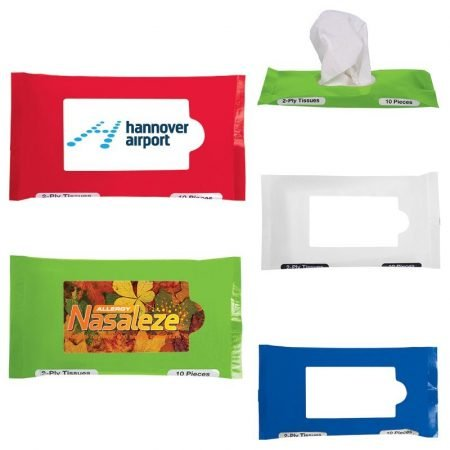 Promotional Hand Sanitizer Wipes w/ Resealable Pouch