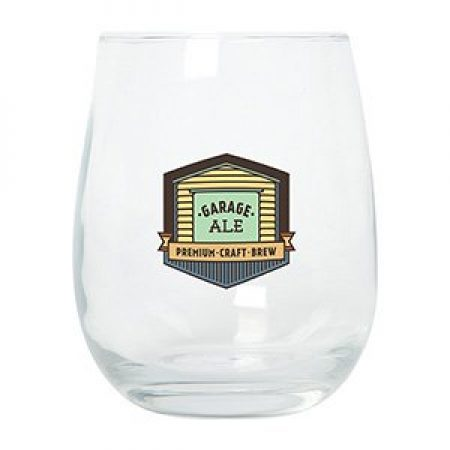 Custom Stemless Wine Glass - 15 oz.