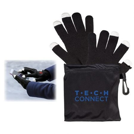 Custom Touch Screen Gloves w/ Pouch