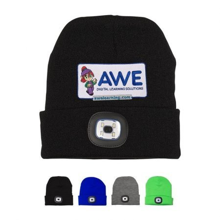 LED Light Custom Knit Beanie Hat