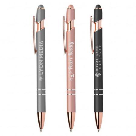 Ellipse Softy Rose Gold Metallic Pen w/ Stylus